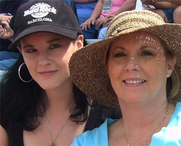 Courtenay (left) with her mother who is also an Aura's House  Supporter