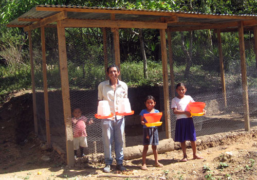 Zoila and Family with Feeders