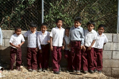 Male students of Guatemalan elementary school.