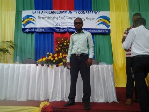 This is Yacn at an East African Conference to bring young people together and help them with their careers.