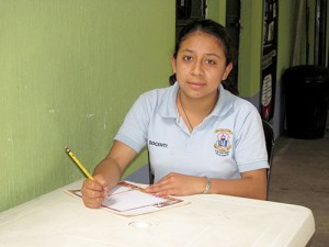 Aura is now studying at Guatemala City's most prestigious university.
