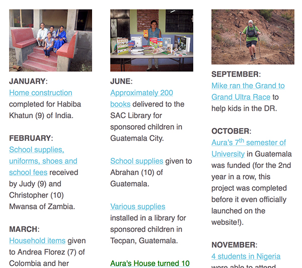Snapshot of our year in review. See EVERYTHING our donors made possible.